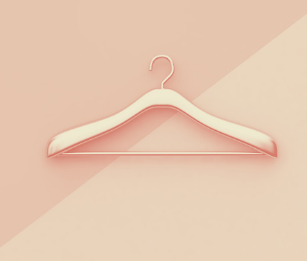 Long-sleeved dresses, empty hanger